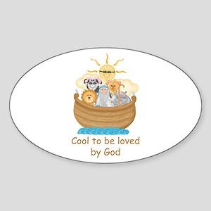 Cool Noah's Ark Oval Sticker