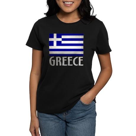 Greek Greece Black Words T-Shirt