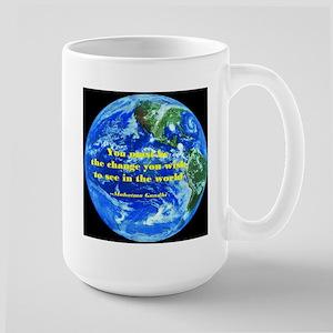 Gandhi-Be the change Large Mug