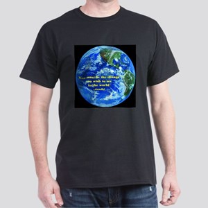 Gandhi-Be the change Dark T-Shirt