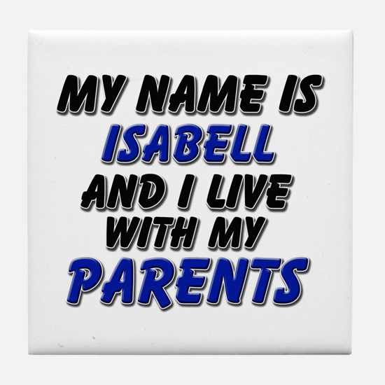 my name is isabell and I live with my parents Tile