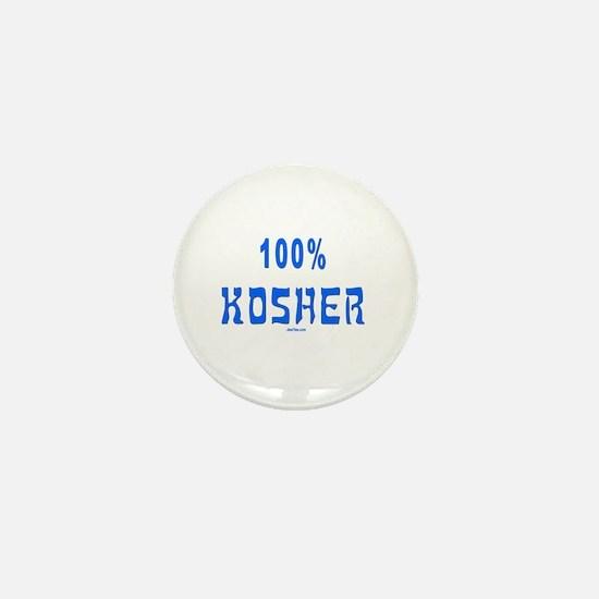 100% Kosher Mini Button