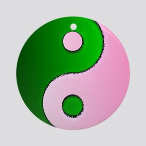 The Ying and Yang of Being Wicked Ornament (Round)