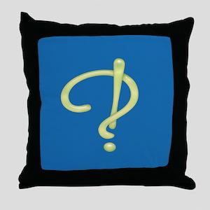 Glass Interrobang 3 Throw Pillow