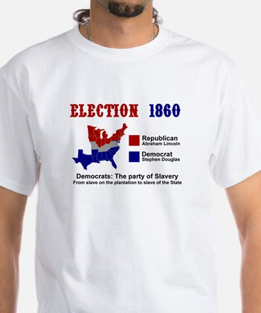 Election 1860: White T-Shirt