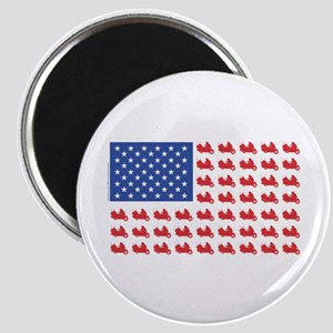 Goldwing Motorcycle Flag Tee Magnet