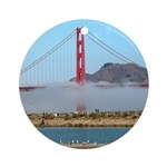 Golden Gate Bridge Fog- Holiday Ornament Round