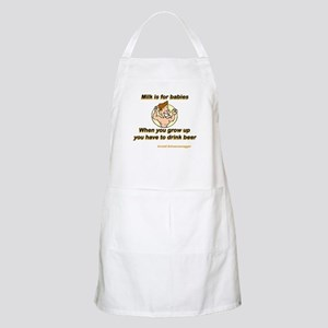 Milk for Babies BBQ Apron