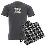 This Girl Loves Kittens Men's Charcoal Pajamas