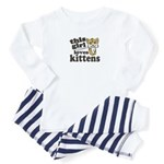 This Girl Loves Kittens Toddler Pajamas
