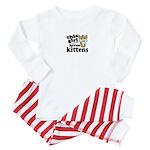 This Girl Loves Kittens Baby Pajamas