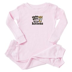 This Girl Loves Kittens Baby Pink Pajamas
