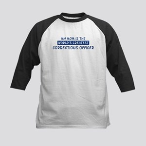 Corrections Officer Mom Kids Baseball Jersey