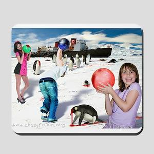 Bowling for Penguins Mousepad