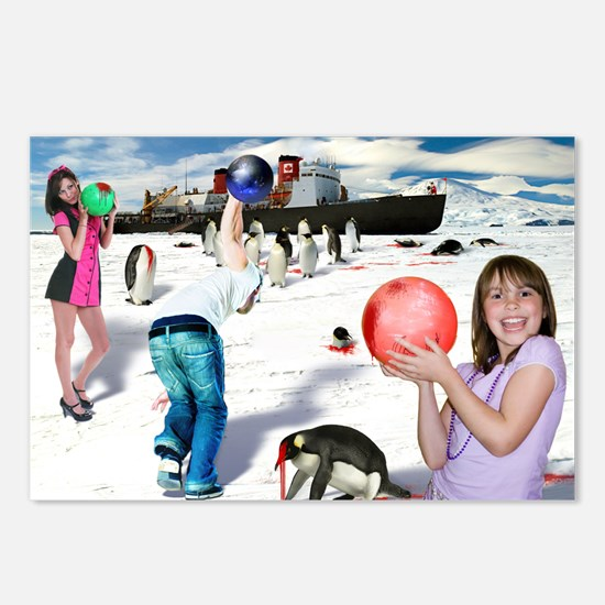 Bowling for Penguins Postcards (Package of 8)