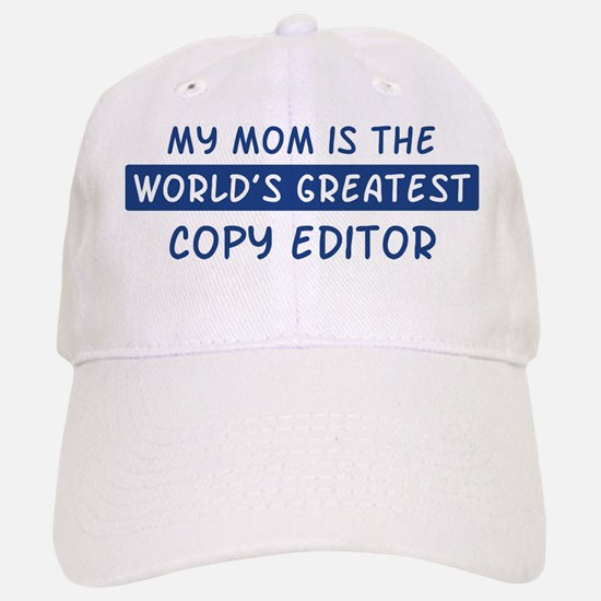 Copy Editor Mom Baseball Baseball Cap
