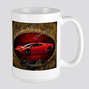 Red Lamborghini Diablo Large Mug