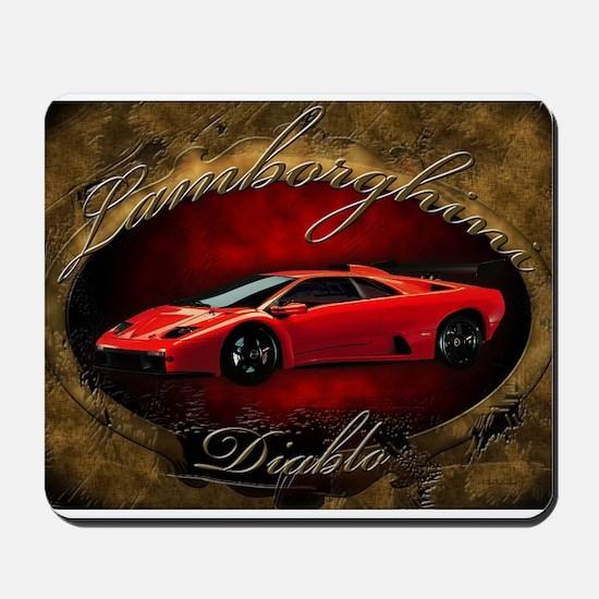 Red Lamborghini Diablo Mousepad