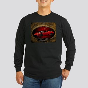 Red Lamborghini Diablo Long Sleeve Dark T-Shirt