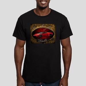 Red Lamborghini Diablo Men's Fitted T-Shirt (dark)