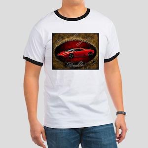 Red Lamborghini Diablo Ringer T