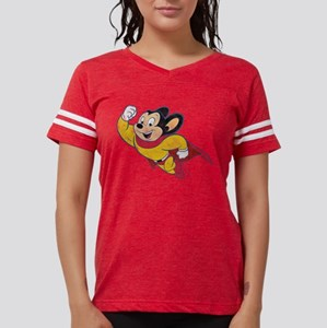Vintage Mighty Mouse Womens Football Shirt T-Shirt