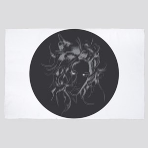 gorgeous silhouette 4' x 6' Rug