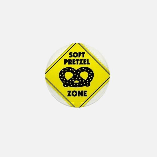 Soft Pretzel Zone Mini Button