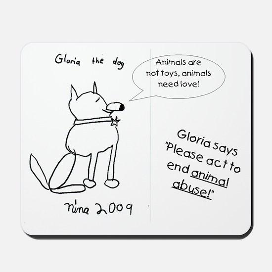 Gloria the dog Mousepad
