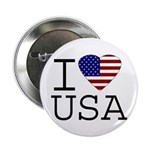 I Love USA Button