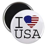 I Love USA Magnet