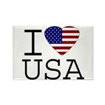 I Love USA Rectangle Magnet (100 pack)