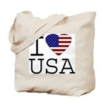 I Love USA Tote Bag