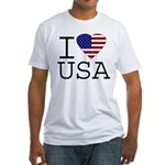 I Love USA Fitted T-Shirt
