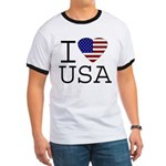 I Love USA Ringer T