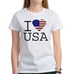 I Love USA Women's T-Shirt
