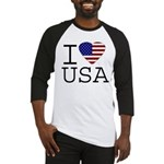 I Love USA Baseball Jersey