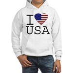 I Love USA Hooded Sweatshirt