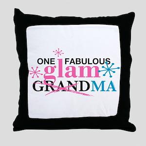 Glam Grandma Throw Pillow