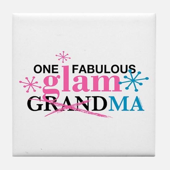 Glam Grandma Tile Coaster