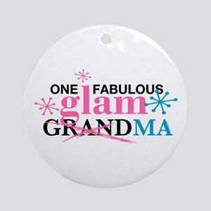 Glam Grandma Ornament (Round)
