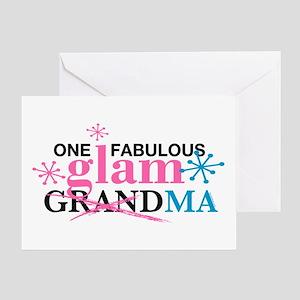 Glam Grandma Greeting Card