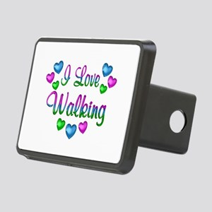I Love Walking Rectangular Hitch Cover