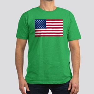 American Flag Men's Fitted T-Shirt (dark)