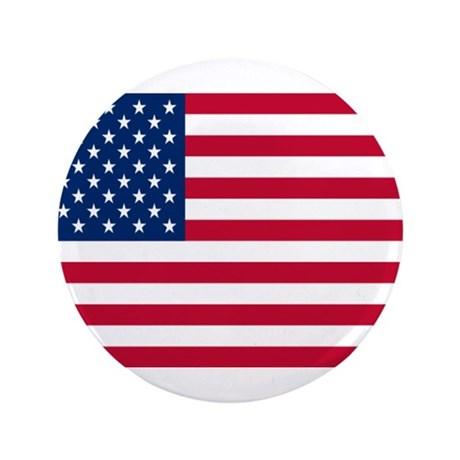 """American Flag 3.5"""" Button (100 pack)"""