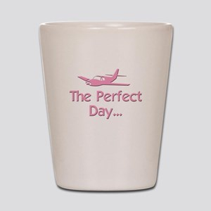 pink perfect day airplane flying rc kid Shot Glass