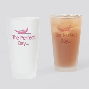 pink perfect day airplane flying rc Drinking Glass