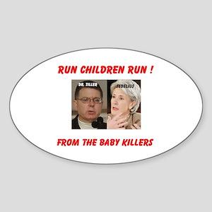 BABY KILLERS Oval Sticker