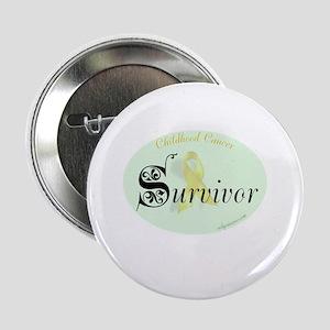 """childhood cancer survivor 2.25"""" Button"""