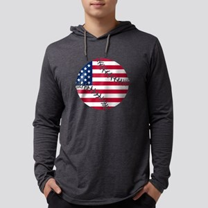 American Flag Basebal Long Sleeve T-Shirt